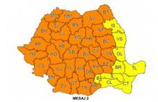 Avertizare meteo! COD PORTOCALIU de vijelii puternice, grindină, cantități de apă importante pentru județul Botoșani