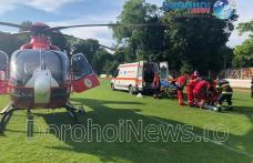 Bărbat cu hipertensiune intracraniană transportat cu elicopterul SMURD de la Dorohoi