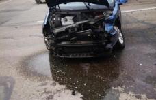 Șoferiță accidentată de un conducător auto neatent
