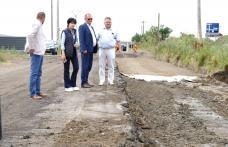 Lucrările la Drumul Strategic continuă într-un ritm susținut! Conducerea CJ a inspectat lucrările la Drumul Strategic - FOTO