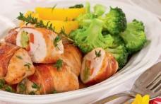 Rulouri de pui cu broccoli