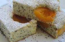Prăjitură cu mac și caise
