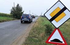 Limitatoare de viteză în intersecțiile cu probleme de pe drumurile județene - FOTO