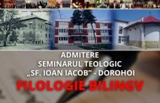 """Seminarul Teologic """"Sfântul Ioan Iacob"""" din Dorohoi, anunţă organizarea sesiunii a doua de admitere pentru clasele a IX-a"""