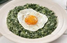 Spanac cu ouă și smântână