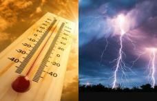 Județul Botoșani se află sub incidența a patru avertizări de căldură și instabilitate atmosferică timp de două zile