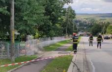 Clipe de panică la Dorohoi după ce o conductă de gaze a luat foc - FOTO