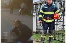 Un pompier din Dorohoi felicitat pentru intervenția promptă la un accident rutier - FOTO