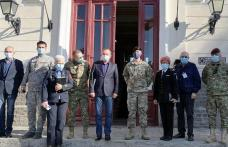 Delegație militară româno-americană în vizită la Dorohoi - FOTO