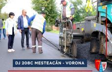 Zeci de kilometri de drumuri județene au fost asfaltați - FOTO