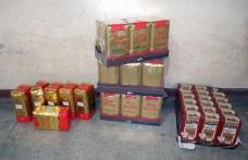 Cafea fără documente confiscată la Româneşti