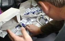 Ţigări de contrabandă transportate cu autobuzul