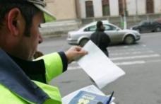 Zeci de pietoni sancţionaţi contravenţional de poliţişti