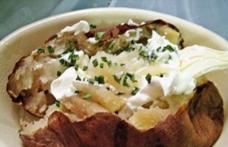 Cartofi cu brânză în folie