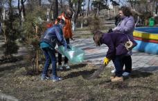 """Parcul """"Grădina de vară"""" ecologizat de copiii de la Şcoala Nr.5 Dorohoi"""