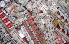 Peste 1000 de pachete de ţigări de contrabandă confiscate de poliţişti