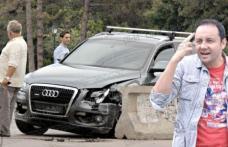 Cătălin Măruţă a intrat cu mașina într-un parapet!