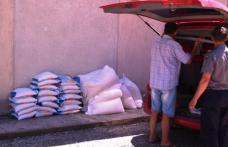 Zahăr pentru piaţa neagră confiscat de poliţiştii de frontieră