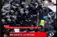 [VIDEO] Incidente violente la mitingul din Capitala