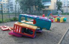 Loc de joaca din cartierul Plevna vandalizat