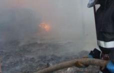 Furaje incendiate de un necunoscut