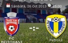 Stadionul Municipal botoșănean găzduiește astăzi meciul FC Botoşani- Petrolul Ploieşti