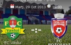 FC Botoşani întâlnește astăzi în optimile Cupei României pe SC Vaslui. Vezi programul!