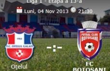 FC Botoșani joacă astăzi în deplasare la Oțelul Galați