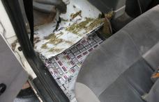 Autoturism blindat cu ţigări descoperit în P.T.F. Rădăuţi Prut