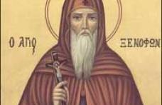 În această lună, în ziua a douăzeci şi şasea, pomenirea cuviosului nostru părinte Xenofont, a soţiei sale Maria şi a fiilor lor Arcadie şi Ioan