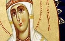 În această lună, ziua a cincea, pomenirea sfintei muceniţe Agata