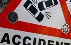 Accident rutier produs din cauza conditiilor meteo