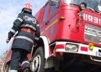Excavator incendiat de un necunoscut pe raza localitatii Cucorani