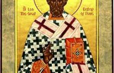 În această lună, ziua a optsprezecea, pomenirea celui între sfinţi părintelui nostru Leon papa al Romei.