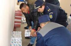 Autocar blindat cu ţigări descoperit în P.T.F. Stânca
