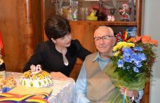 Botoșăneanul care se sărbătorește odată cu Marea Unire felicitat de senatorul Doina Federovici - FOTO
