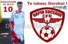 Juniorul dorohoian Robert Bosînceanu a debutat în Liga a II-a la vârsta de doar 15 ani