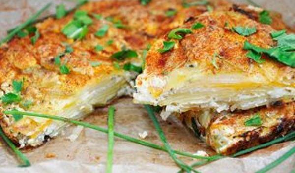 Tartă de cartofi cu brânză