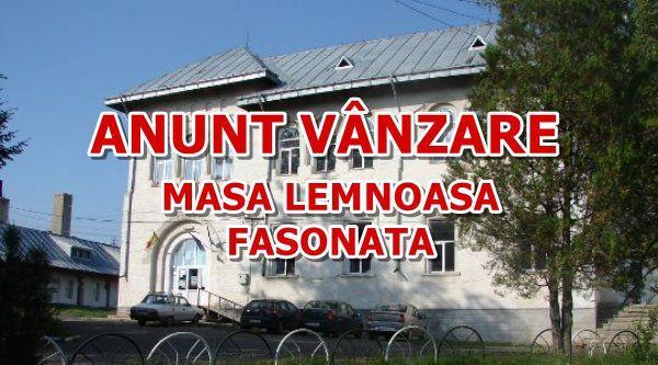 ANUNT VANZARE MASA LEMNOASA FASONATA
