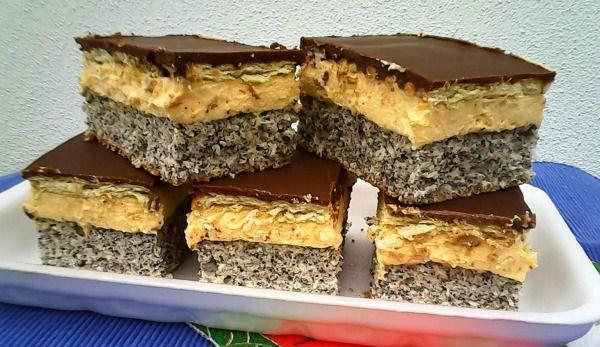 Prăjitură cu mac glazurată