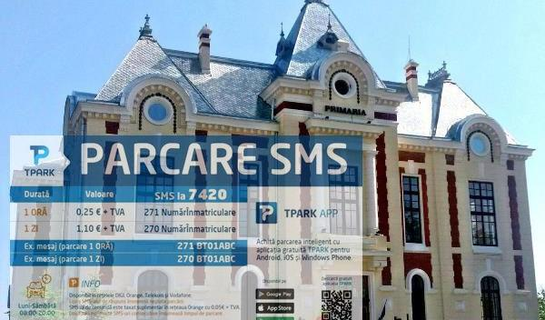 Parcare prin SMS in Dorohoi