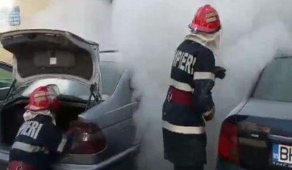 incendiu masina dorohoi