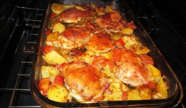 Pulpe de pui cu cartof