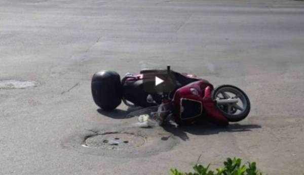 accident moped