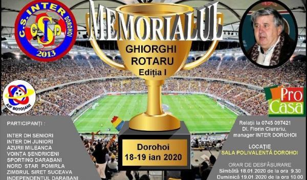 Memorial fotbal la Dorohoi