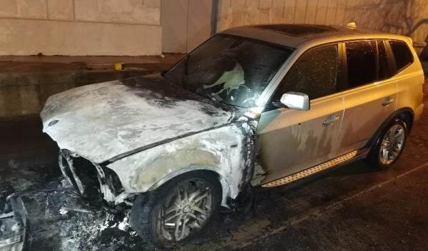 BMW incendiu