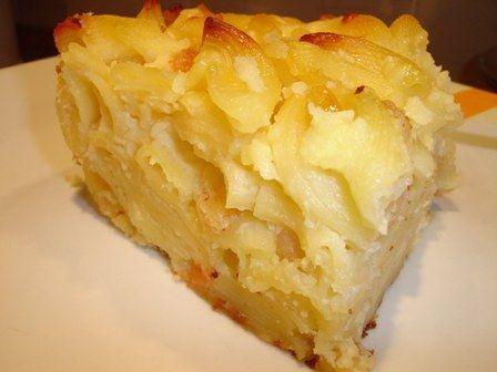Budincă cu brânză şi paste