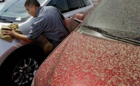 Fenomen ciudat, ploaia roșie în România