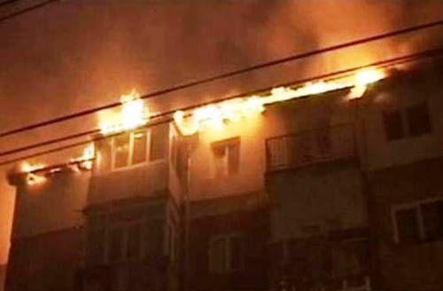 Incendiu bloc Flamanzi