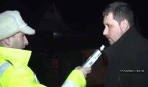 Un preot beat la volan a făcut circ în faţa poliţiştilor
